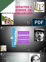 Propósitos y Principios de La Evaluación