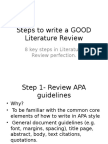 Literature Review Steps