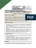 Plan de Asignatura Diagnóstico Financiero Estratégico