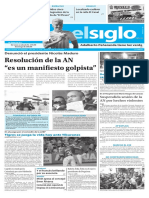 Edición Impresa Elsiglo 11-01-2017