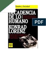 Lorenz, Konrad - Decadencia de Lo Humano