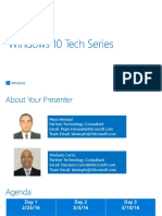 25.02.2016 - Microsoft Windows 10 Tech Series Día 1 - WTS_Agenda