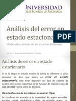 Análisis Del Error en Estado Estacionario MODELADO