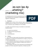 Cuáles Son Las 4p Del Marketing