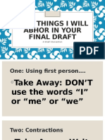 ten things i will abhor in your final draft