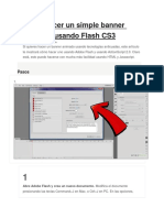 Cómo Hacer Un Simple Banner Animado Usando Flash CS3