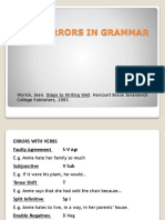 Main Errors in Grammar and Punctuation