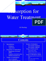 2. Adsorption for Water Treatment
