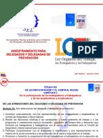 Adiestramiento Para Delegados y Delegadas de Prevención Ddp