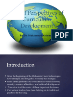 Global Perspectives of Curriculum Development