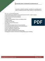 Primavera P6 Course Material