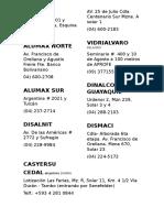 Fabrica y Distribuidoras de Tubos de Aluminio