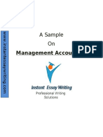 Sample Report on Management accounting by Expert Writers of Instant Essay Writing