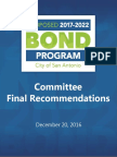 2017 Bond Committee Final Recommendations