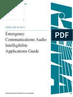 NEMA SB 50 - Guide Emer Comm Audio Intelligibility App - 2014