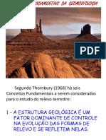 Aula Conceitos Fundamentais Da Geomorfologia