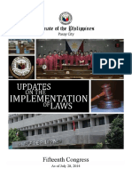 Updates on the Implemention of Laws (as of July 28, 2014)