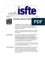 ISfTE Newsletter 28 July 2010