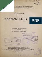 Bergson, Henri - Teremtő Fejlődés