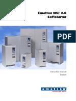 Emotron Softstarter Msf2-0 Instruction Manual