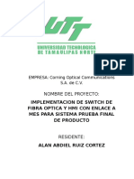 Optical Switch Para FT Line - Anteproyecto