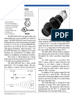 Isweek RPS-409A-Is2 Ultrasonic Sensor Certified Safe for Use in Explosive Environments
