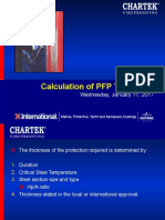 7.3 Calculation of PFP Thickness