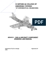 Ae6413- Cad & Aircraft Component Drawing