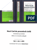 Noul Cod de Procedura Civila Vol I Art. 1-455 2016