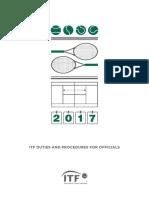 2017 ITF Duties and Procedures