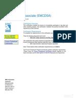 E20-007 Data Science and Big Data Analytics (EMCDSA)