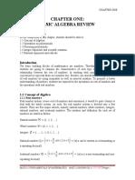 Chapter 1 Basic Algebra Review MAT1215 Soong