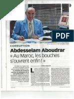 Entretien de Mr Aboudrar