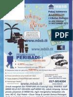 01. Flyers & Peraduan - Pinjaman Peribadi MBSB (Promosi Raya)
