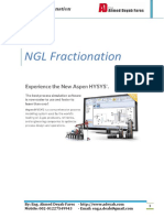 NGL Fractionation using HYSYS