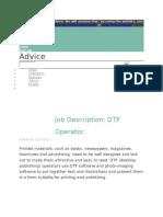 Scope of DTP