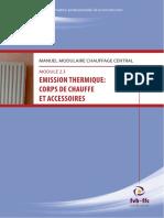 Chauffage Central - Emission Thermique-corps de Chauffe Et Accessoires