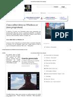Como Editar Fotos No Windows 10 (Sem Programas)