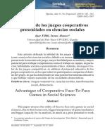 Filibi, Igor y Alonso, Ixone - Ventajas Juegos Cooperativos - 2015