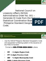 NSCB Philippine Standard Geograpic Code