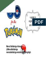Go for the Pokemon Presentació