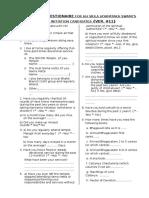 6. Personal Questionnaire