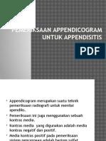 Pemeriksaan Appendicogram Untuk Appendisitis