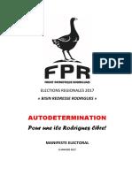 FPR Manifeste Electoral 2017