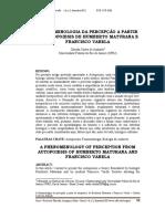 8-A Fenomenologia Da Percepcao a Partir Da Autopoiesis de Humberto Maturana e Francisco Varela- Claudia Castro de Andrade