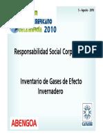 Responsabilidad Social e Inventario de Gases Efecto Invernadero