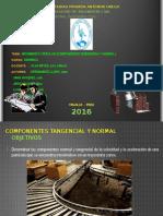 Componentes tangencial y normal