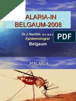 Malaria in Belgaum-2008