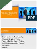 JV in Retail Industry
