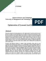 Economical Load Dispatch SYNOPSIS